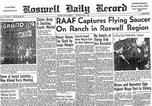 La prima pagina del Roswell Daily Record Luglio 1947