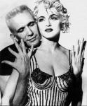 Madonna con Jean Paul Gaultier. Grandi amici.