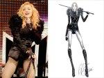 Qui Madonna con un abito di Riccardo Tisci, creatore di Givenchy.